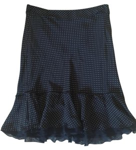 The Limited Skirt Black w/Tan Dots