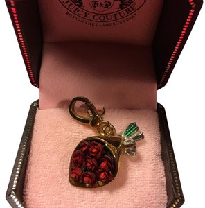 Juicy Couture NEW! JUICY COUTURE STUNNING RARE RED & GOLD ROSES BOUQUET CHARM!