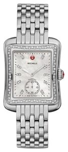Michele NWT Deco MOP Moderne II 16 Diamond, Diamond Dial Watch MWW06Y000014