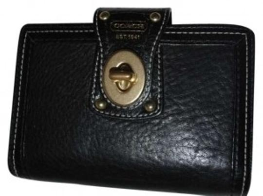 Coach Coach Black Pebbled Leather Turnlock Calendar and Organizer Cover