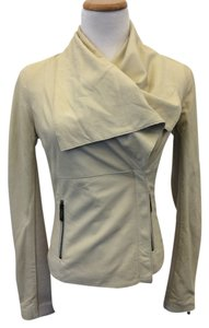 Vince Cream Leather Jacket
