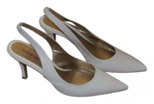 Connie White Leather Pumps