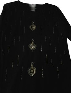 Bob Mackie Beaded Embellished Sweater