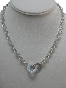 Tiffany & Co. Tiffany & Co Silver 1837 Round Clasp Charm Necklace
