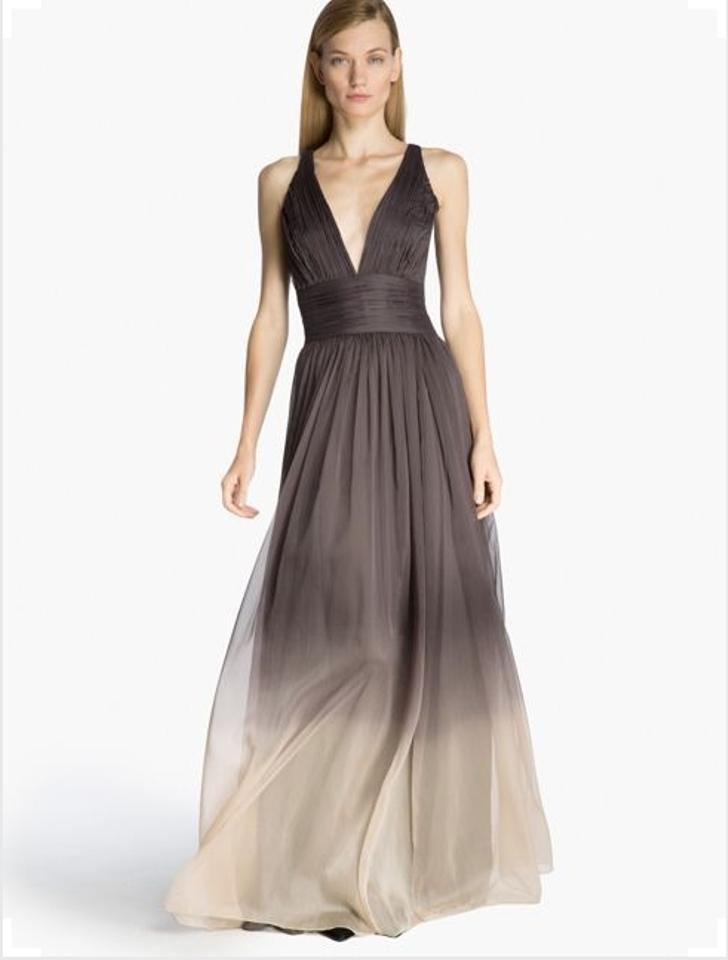 Halston Grey Ombre Evening Gown Long Formal Dress Size 6 (S) - Tradesy