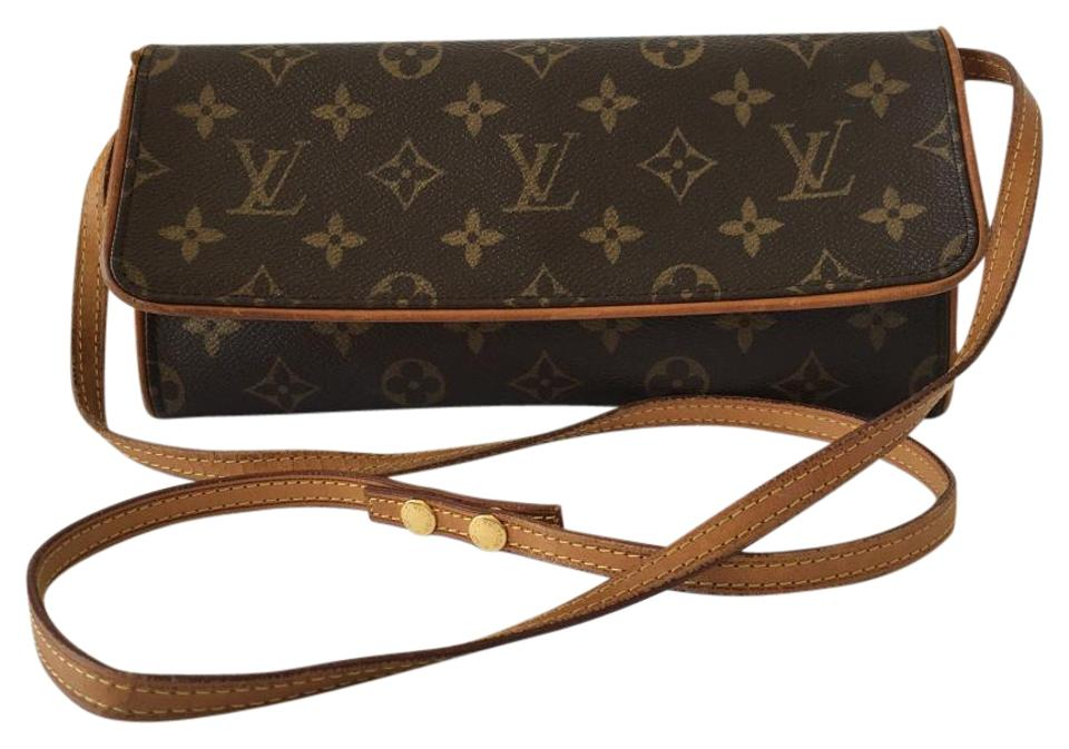Louis Vuitton Twin Pochette Gm with Box and Dustbag 2977 Brown ... af332a590cb1d