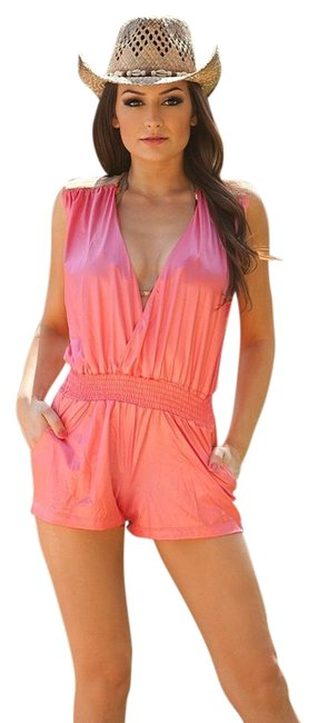 Item - Coral Undeniable Lace Romper Large Cover-up/Sarong Size 12 (L)