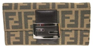 Fendi Fendi Brown Zucca Canvas