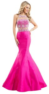 Rachel Allan Prom Mermaid Skirt Jeweled Dress