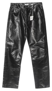 Moschino Relaxed Pants Shiny Black