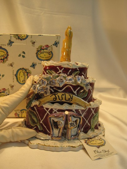 Other July Birthday Cake Cottage by Heather Goldminc Clayworks for Blue Sky - [ Roxanne Anjou Closet ]