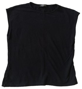 Tahari Deep Shell Tank Top Black