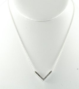 Ippolita Ippolita Sterling Silver Diamond Necklace .925 Stella V Pendant 16