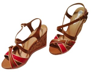 Patrizia Pepe 4th Of July tan/red Wedges