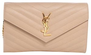 3d89fd9a51 Saint Laurent Woc Wallet On Chain Chevron Shoulder Bag