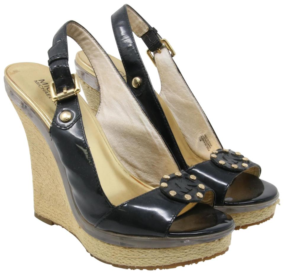 26e81e0fbed9 MICHAEL Michael Kors Mk Fashion Sandals Tory Burch Black Wedges Image 0 ...