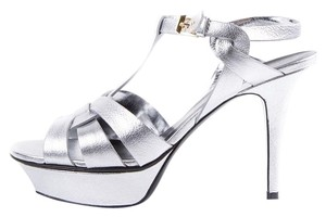 Saint Laurent Silver Platforms