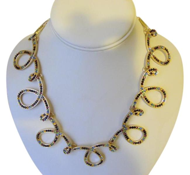 "Item - Goldtone ""Glow On"" Crystal Loop with Extender Necklace"