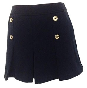 Juicy Couture Pleated Gold Mini Flirty Fun Skirt Black