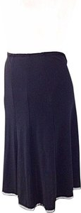 Cynthia Steffe A Line Office Business Stretchy Cutout Hem Skirt Black