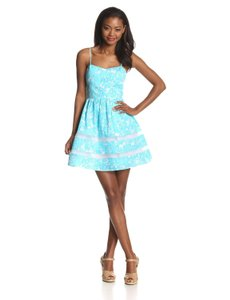 Lilly Pulitzer short dress Blue The Ollie Floral on Tradesy