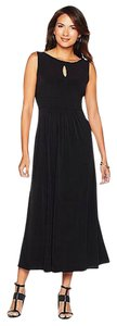 Black Maxi Dress by Tiana B. Keyhole