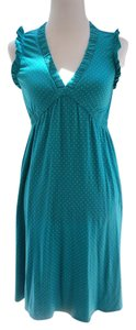 J.Crew short dress Teal with pindots on Tradesy
