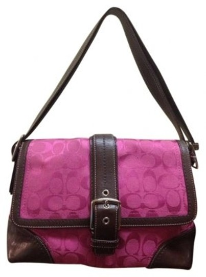 Preload https://item4.tradesy.com/images/coach-fuchsia-signature-canvas-with-leather-bright-pink-cloth-shoulder-bag-155928-0-0.jpg?width=440&height=440