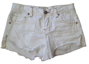 Free People Distressed Shorts White