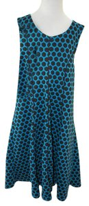 Bonnie Jean short dress Teal with Black Polka Dots on Tradesy