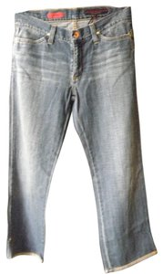 AG Adriano Goldschmied Capri/Cropped Denim-Light Wash
