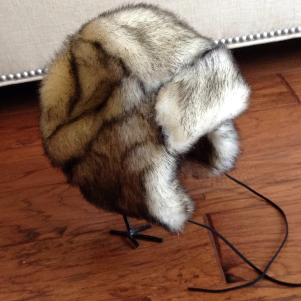 Betsey Johnson Black Cream Faux Fur Trapper Hat - Tradesy c5dab4f00ba