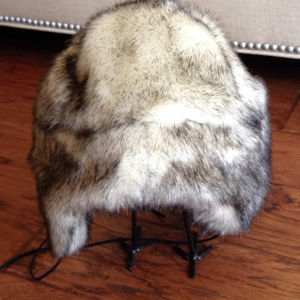 Betsey Johnson Black Cream Faux Fur Trapper Hat - Tradesy 8e9ac70bd8e9