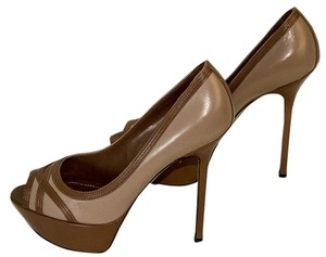 Sergio Rossi brown / mauve Pumps