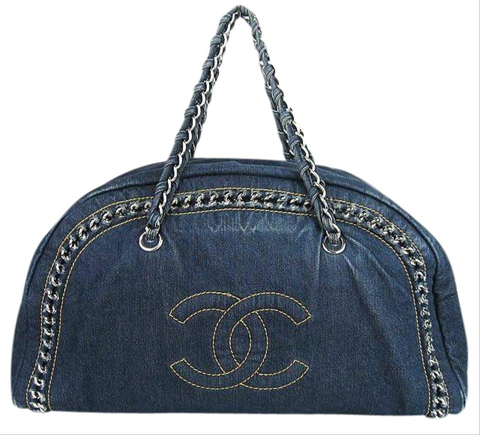 Chanel Chain Blue Denim Shoulder Bag - Tradesy f1b89c196e
