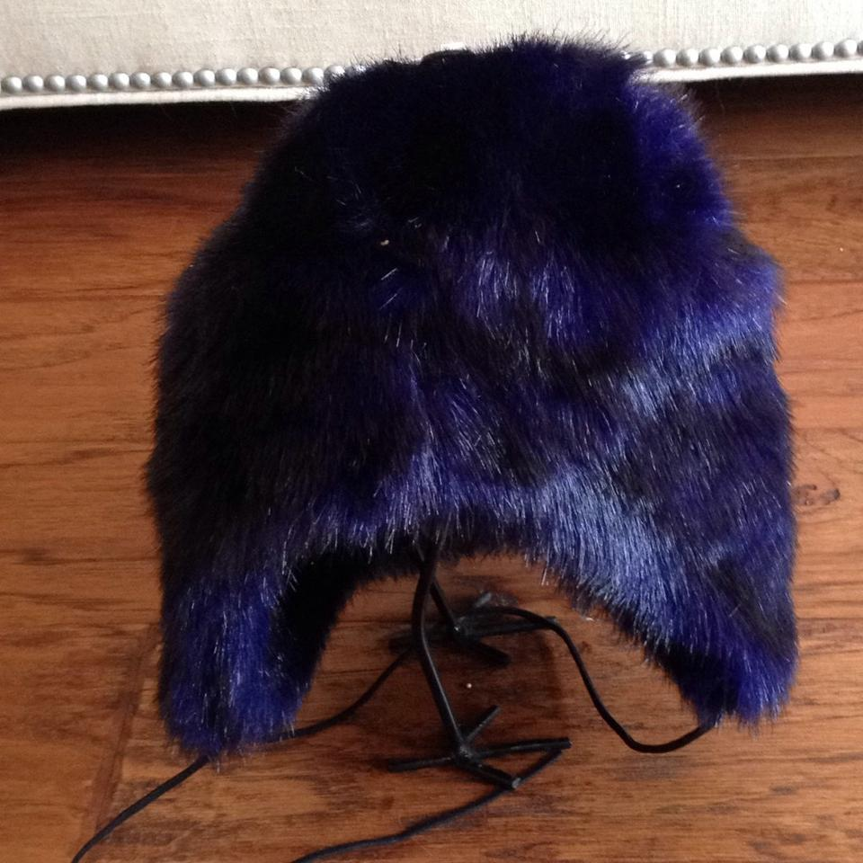 Betsey Johnson Deep Purple Faux Fur Trapper Hat - Tradesy 8a7b38b725a