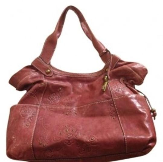 Preload https://item5.tradesy.com/images/fossil-capri-with-embossed-detail-leather-pink-satchel-155939-0-0.jpg?width=440&height=440