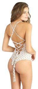 Tori Praver One piece lace up back