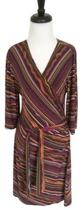 Laundry by Shelli Segal short dress Multicolor Wrap Striped on Tradesy
