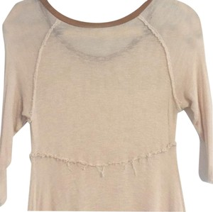 Free People Top Baby pink and camel