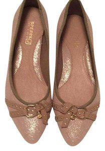 Sperry Taupe Sparkle Flats