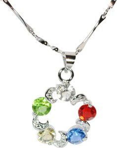 Other Rainbow white gold plated necklace