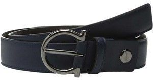Salvatore Ferragamo Salvatore ferragamo double adjustable belt blue marine/black