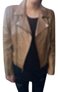 BCBGeneration Tan Leather Jacket