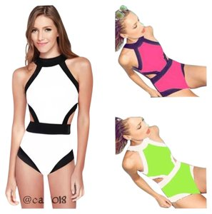 SUMMER SALE New White & Black Sexy Monokini Bathing Suit