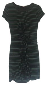 Pixley short dress Blue with Green Stripes on Tradesy