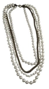 J.Crew Pearl and Chain Multi Strand Long Necklace