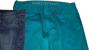 American Eagle Outfitters Embroidered Embellished Skinny Jeans-Light Wash