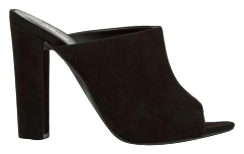 621a9825fcb Nasty Gal Black Mule Into The Groove Sandals Pumps Size US 6 Regular ...