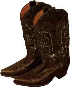 Frye Leather Studded Cowboy Boot Bronze Boots